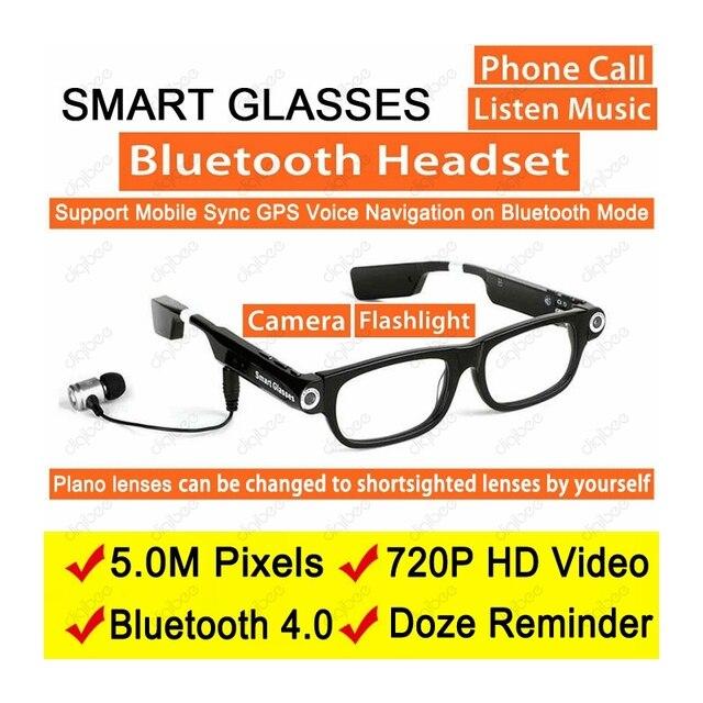 Mode Sport Sans Fil Bluetooth Casque Intelligent Lunettes de soleil Caméra  HD 720 p Enregistreur Vidéo 3b4a91a596cf