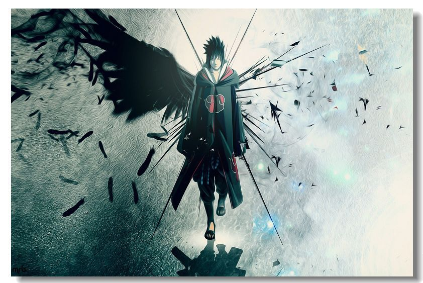 Home Decor Naruto Poster Naruto Wallpaper Akatsuki Custom Wall Sticker DIY Canvas Wallpapers Decorative Craft Gift