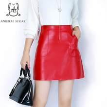 d5682a41e Promoción de De Cuero Rojo Faldas de alta calidad - Compra De Cuero ...