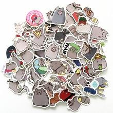 TD ZW 100Pcs/lot Cartoon Cat Stickers For Snowboard Laptop Luggage Car Fridge Car- Styling Vinyl Decal Home Decor