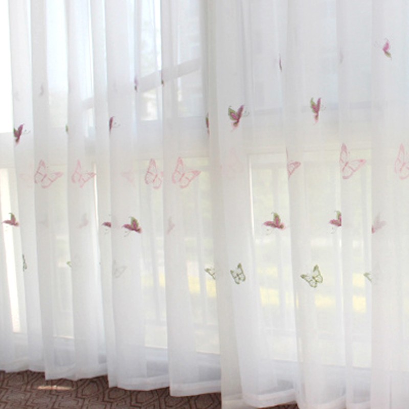 2016 kamer thuis gordijn vlinder gordijnen voile gordijnstof decor ...