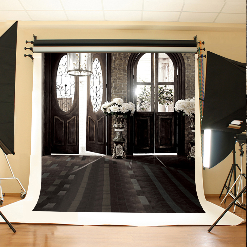 Wedding Photography Backdrops Black Stone Brick Floor Digital Printing Background White Flowers Sun Tree Backdrop Photo Studio 10ft 20ft romantic wedding backdrop f 894 fabric background idea wood floor digital photography backdrop for picture taking