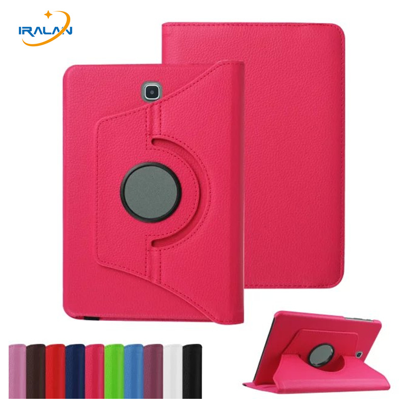 For Samsung Galaxy Tab A 9.7 T550 T555 PU Leather 360 Rotating Stand Case Cover for Galaxy Tab A 9.7 Tablet +Screen Film+ Stylus все цены