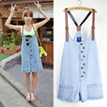 New 2017 Women's Jeans Jumpsuits Denim overalls for women summer casual straps shorts jumpers women Jumpsuits Rompers