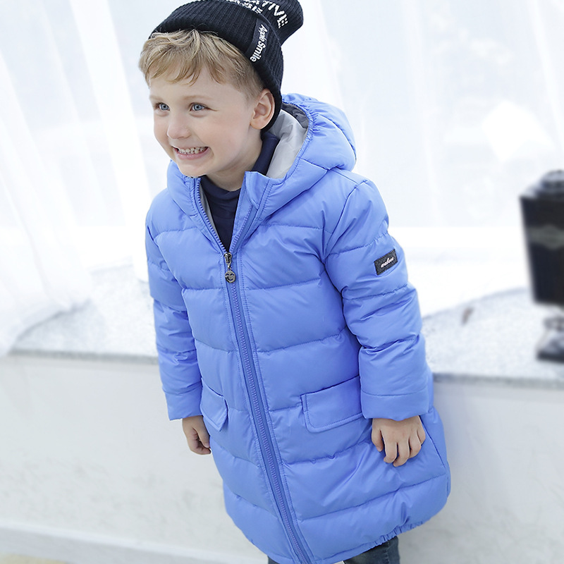 Girls Winter Light White Duck Down Coat Kids Jacket Hooded Long Sections thick jacket Winter Clothing Parkas &Coats For 2-7  2016 new brand child girls winter white duck down jackets coats thick hooded outwar waistband kids girls warm down jacket parkas
