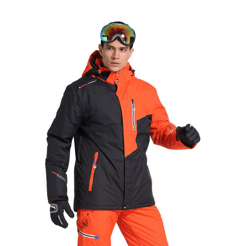 New Outdoor Mountain Ski Top Men's Windproof Waterproof Thermal Snowboard Male Skiing Jacket Skating Clothes Thicken With Velve