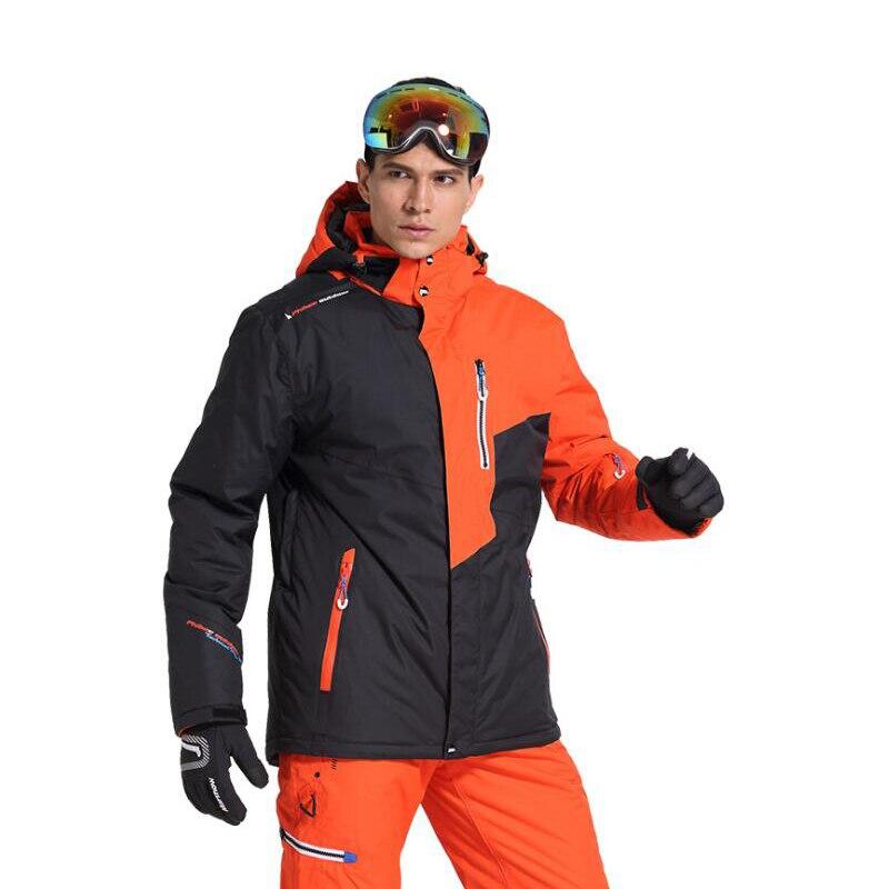 Nouveau En Plein Air Montagne de Ski Top Hommes Coupe-Vent Imperméable Thermique Snowboard Mâle Ski Veste De Patinage Vêtements Épaissir Avec Velve