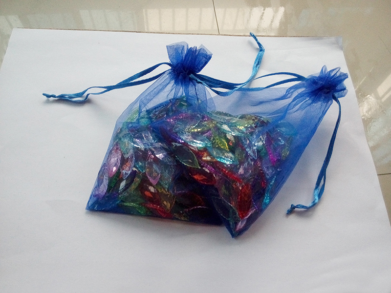 500pcs 11 16 Blue gift bags for jewelry wedding christmas birthday Organza Bags with handles Packaging
