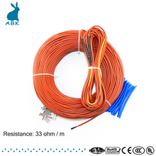 Underfloor heating cable system of 3mm