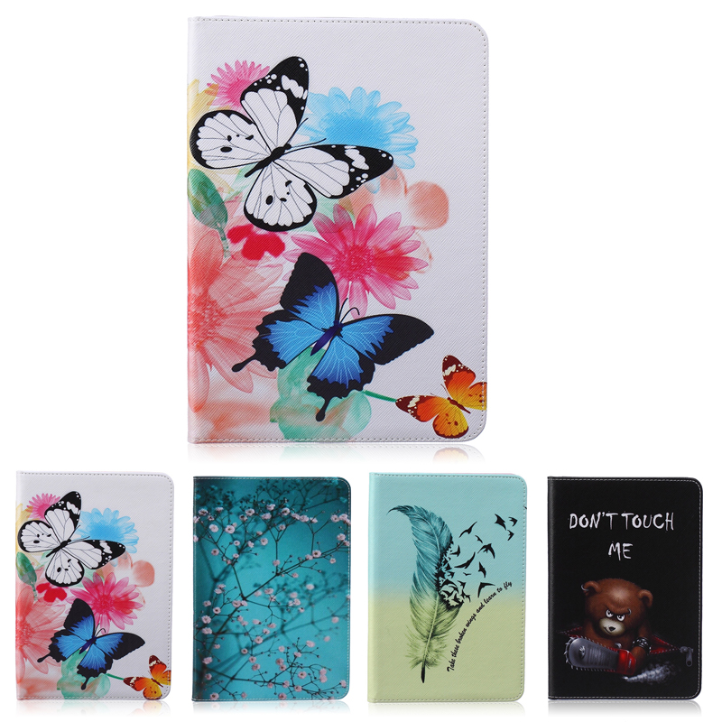 Painted Flip PU Leather Case For Samsung Galaxy Tab 3 Lite Case For Samsung Galaxy Tab 3 Lite 7.0 T110 T111 Smart Case Cover luxury flip stand case for samsung galaxy tab 3 10 1 p5200 p5210 p5220 tablet 10 1 inch pu leather protective cover for tab3