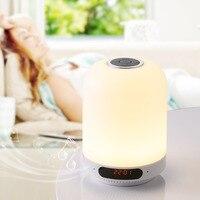LIGINWAAT Dimmable Smart LED Desk Lamp Blue Tooth Music Player Touch Dimmer Bedroom Living Room Alam Speaker BT Night Light