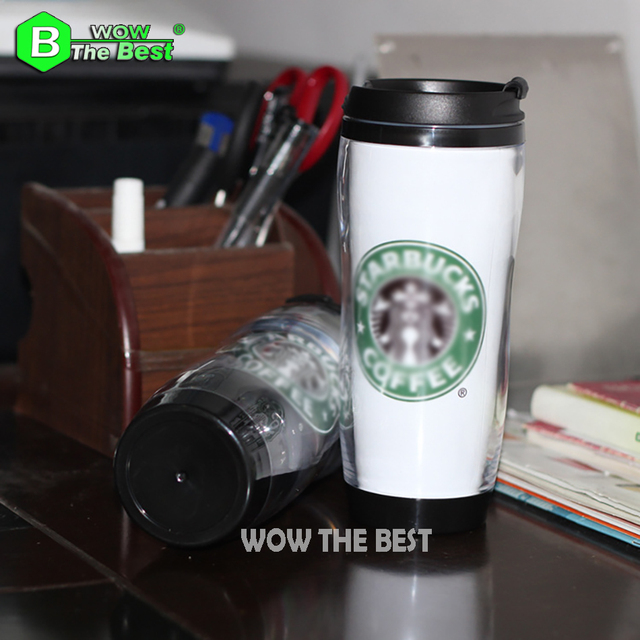 Insulated Cup Mondri double-deck Plastic Cup Coffee Cup Fashion Travel Bottle 380ml