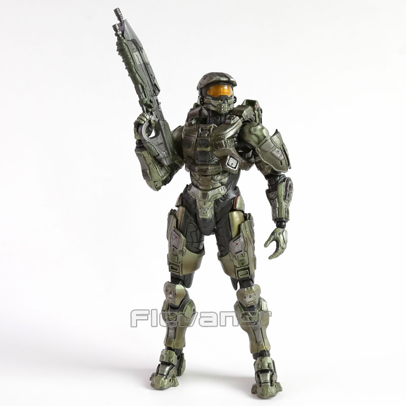 Play Arts Kai HALO 5 GUARDIANS Master Chief PVC Action Figure Collectible Model Toy shfiguarts batman injustice ver pvc action figure collectible model toy 16cm kt1840