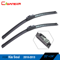 1Pair Car Frameless Windshield For 2010 2013 Kia Soul Soft Rubber Windscreen Wiper Blades