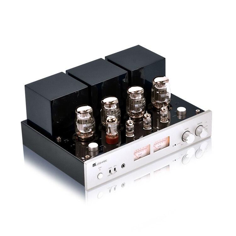 Nouveau MUZISHARE nouveau X7 KT88 push-pull amplificateur de lampe GZ34 meilleure vente avec Phono et télécommande