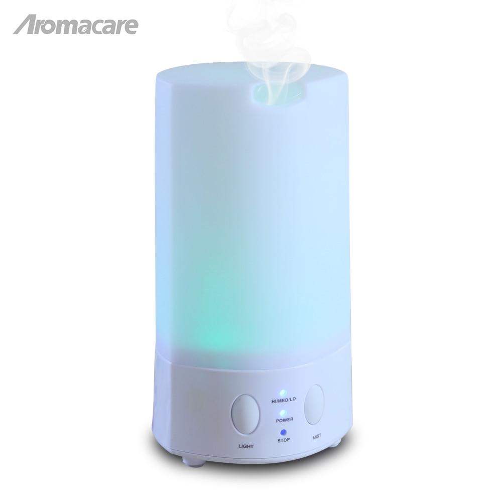 100 ml Aroma Minyak Atsiri Ultrasonik Humidifier Udara dengan Serat Kayu 7 Mengubah Warna Lampu LED untuk Kantor Rumah