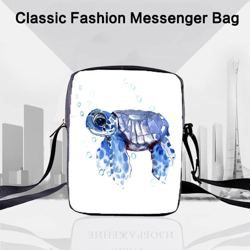 CROWDALE Women Bags 3D-printing turtle Shoulder Bag Handbags Ocean Series Messenger Children Crossbody 23x17x5cm Turtle