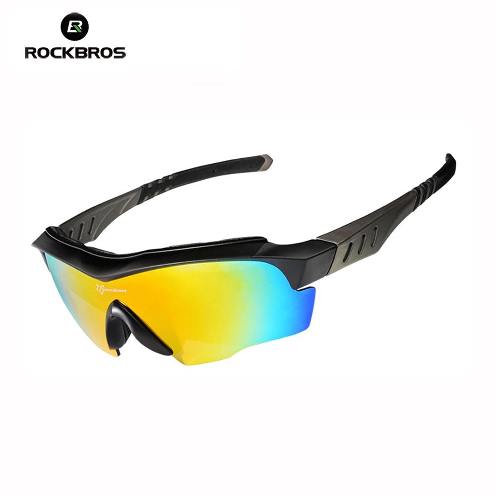 RockBros Polarized Bike Sunglasses Cycling Glasses Anti-sweat UV400 Black Gray