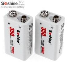 Recarregável plus Carregador de Caixa 2 Soshine 9 V 6f22 Pçs e set 350 MAH Ni-mh Bateria de Portátil