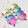 2016 hotMen's Women's Vintage Mirror lens Round Glasses Steampunk Eyewear Sunglasses  8RVP