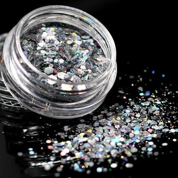 1Box Laser srebrny holograficzny cekiny brokat Shimmer diament 12 kolory oko błyszczące skóry wyróżnienia twarzy ciało Glitter Festi #002 tanie i dobre opinie Federacja rosyjska