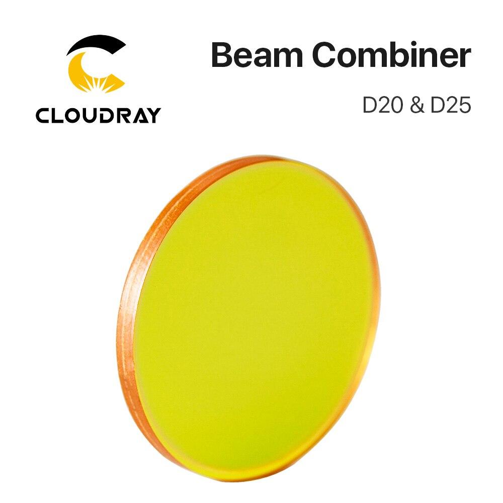 Combinador de Feixe de Laser lente Diâmetro 20mm 25mm para CO2 Gravação A Laser Máquina de Corte para Ajustar O Caminho da Luz e fazer A Laser Visível