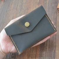 Crazy Horse Women Coin Purses Holders Retro Coin Pocket Genuine Leather Handmade Small Purse Wallet With