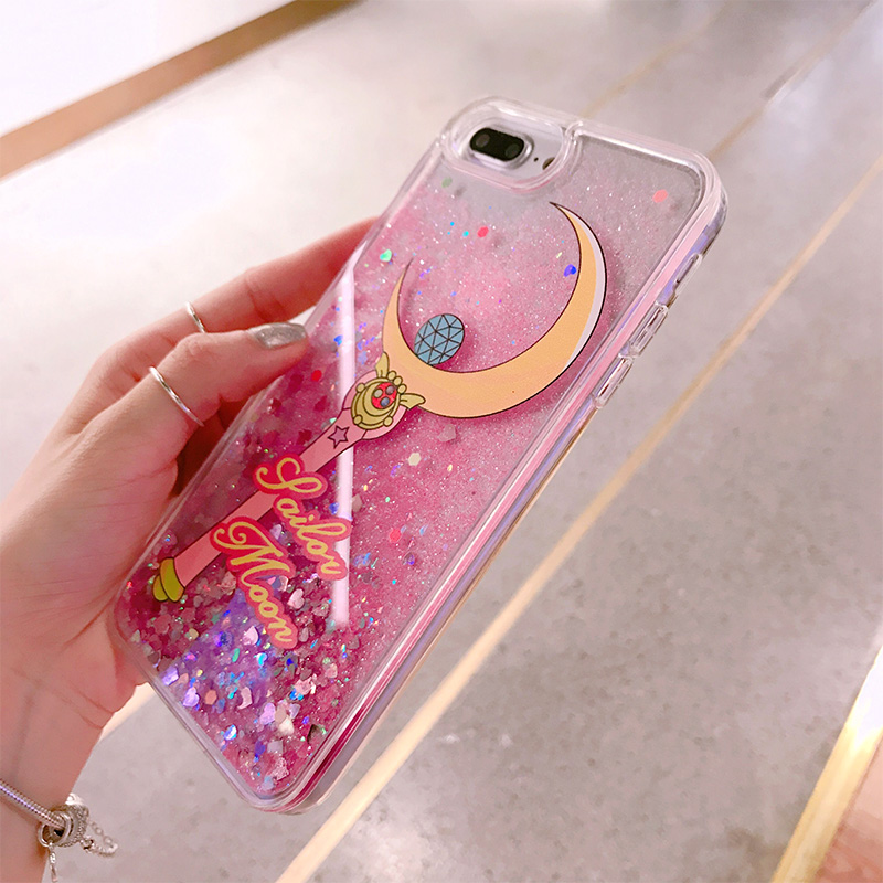 2017 Luxury Angel Gril Pink Liquid Quicksand Hard Pc Case For Iphone 6 6s 7 Plus Cases Edge Soft Back Phone Cover Case Protect Fitted Cases Cellphones & Telecommunications