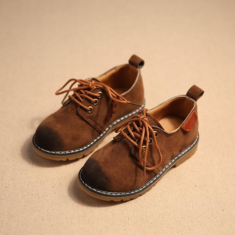 Tavaszi Őszi Gyermekcipők Gyermek PU Bőrcipők Sprotcipő Cipők Gyerekek Retro Vintage Martin Boot Baby Gyerekek Alkalmi Cipők