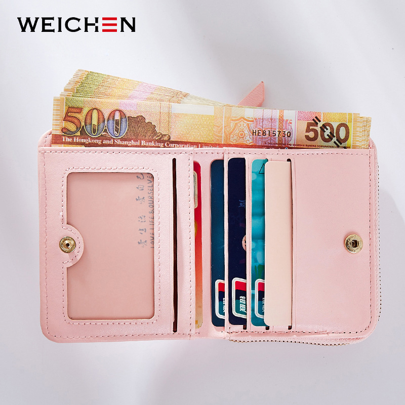 984b0cc29d11 New Designer Heart Cute Pink Small Wallet for Women Lady Mini Clutch Coin  Purse Card Holder Pocket Girl Short Wallets Zipper-in Wallets from Luggage    Bags ...