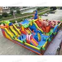 2017 Popular Outdoor Playground Equipment Custom Stirring Adults 5K Inflatable Obstacle Course Dragon Phome Funny Kids City