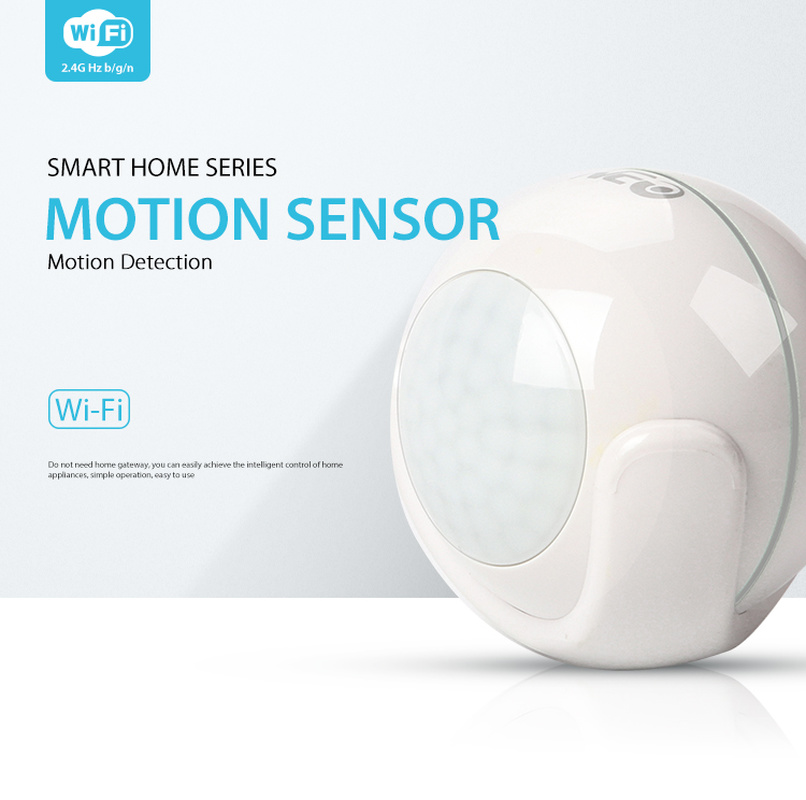 Smart Home WiFi Smart PIR Motion Sensor Smart Home Dectector Compatible,No Hub Required,Alert Via Mobile Phone Remotely Dropship
