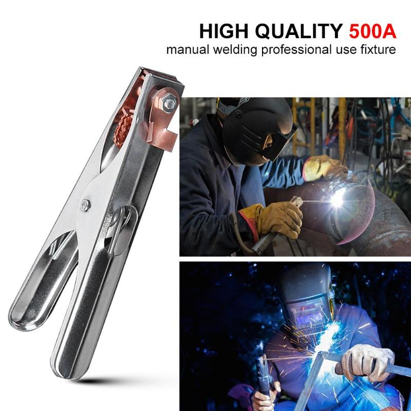 500A Earth Ground Cable Clip Clamp Welding Manual Welder Electrode Holder Cable Clip Clamp Welding Manual Welder