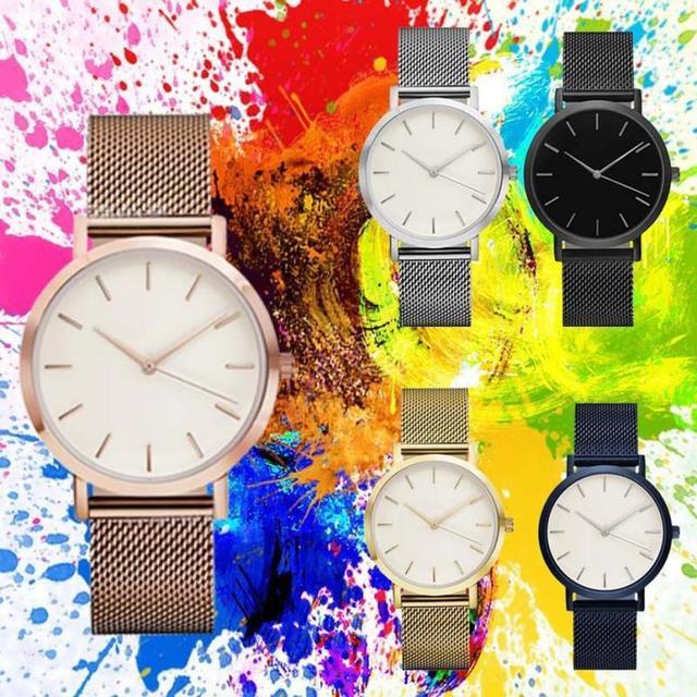 Fashion Women Crystal Stainless Steel Analog Quartz Wrist Watch Bracelet DEC19 5
