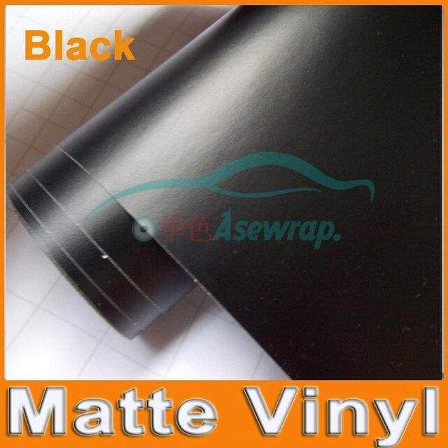 Prémio Preto Matte car Vinyl Wraps auto Folha de Cetim Preto Fosco Película Do Envoltório Do Carro Veículo Adesivo com tamanho diferente/Roll