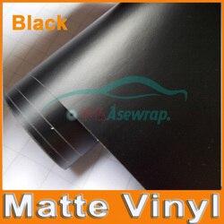 Premium Schwarz Matt Vinyl auto Wraps auto Satin Matt Schwarz Folie Auto Wrap Film Fahrzeug Aufkleber mit verschiedenen größe/ rolle