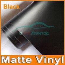 Revestimiento para coche de vinilo mate negro de primera calidad lámina de aluminio negro revestimiento para coche, autosatinado, pegatina para vehículo de diferentes tamaños/rollo