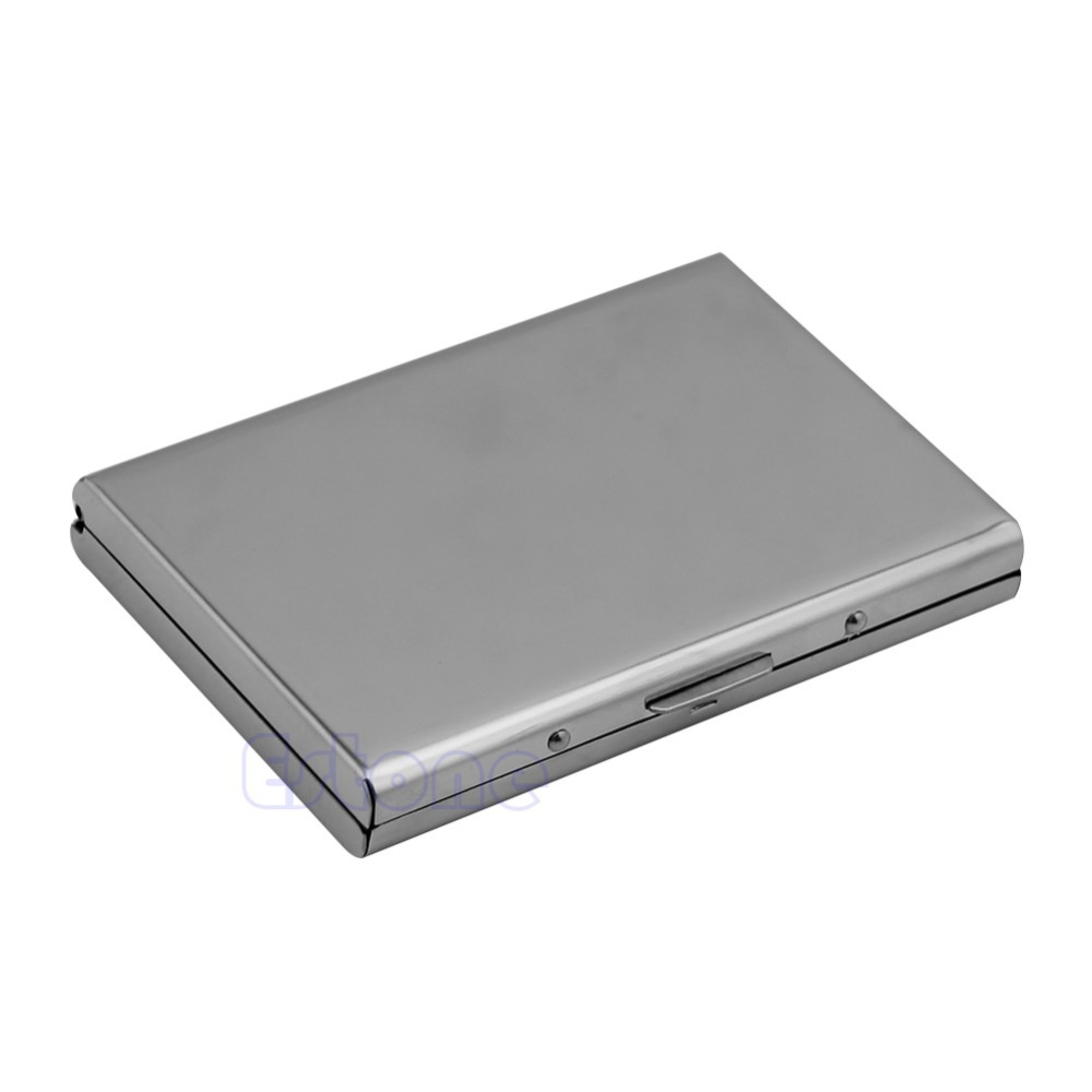 Waterproof Business ID Credit Card Wallet Holder Aluminum Metal Pocket Case Box men s waterproof business id credit card wallet plastic pocket case male business id credit card wallet aluminum metal pocket a9