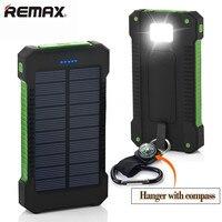 Solar Power Bank 20000mAh Dual USB Power Bank Waterproof Li Polymer Powerbank External Portable Solar Panel