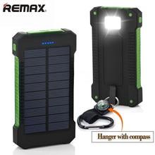 Banco do Poder Água com LED 20000 MAH Dual USB Power Bank Solar Li-polímero Powerbank Externo Portátil Painel À Prova D' LUZ