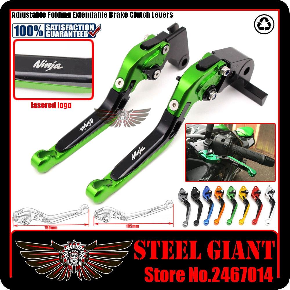ФОТО fits For KAWASAKI NINJA 250/300 2013-2015 Motorcycle Accessories Adjustable Folding Extendable Brake Clutch Levers