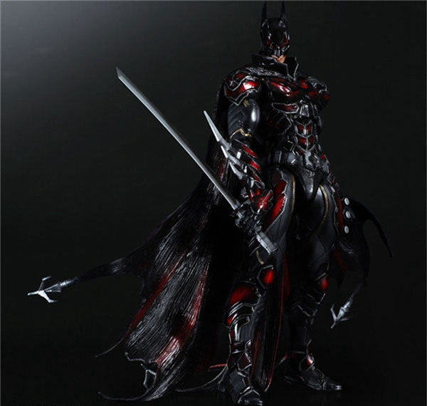 Play Arts Kai Bat Man NO 1 Bat-man Figure Red Edition Bruce Wayne 25cm Variant Play Art KAI PVC Action Figure Doll Toys Kid Gift