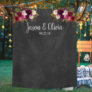 Image 3 - Funnytree photography theme background vintage wedding flowers watercolor blackboard party backdrop photocall new photo prop