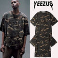 New men's YEEZUS tour Kanye WEST INSPIRED OVERSIZED CAMO T-shirt for men YEEZY ASAP Tee shirt