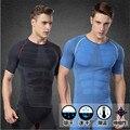 Camisa MAGRO T dos homens Emagrecimento Shaper Do Corpo Dos Homens Roupa Interior Quick-seco de Compressão Camisetas Frete Grátis