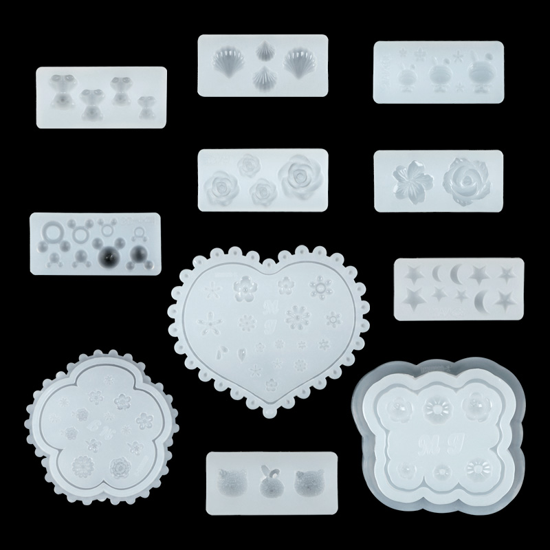 Image 4 - 1PC Nail Art Silicone Mold Stars Moon Mickey Mouse Rabbit Flower Shapes More Style Nail Glue Diy Manicure Nail Art Decorations-in Nail Art Templates from Beauty & Health