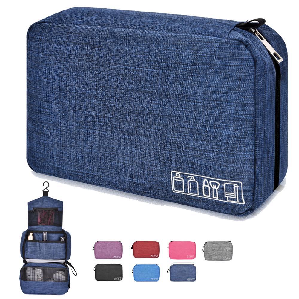 Soperwillton Organizer Bag Toiletry-Bag Dopp-Kit Travel-Accessory Hanging Shaving Mens