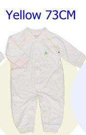 Комбинезоны для маленьких мальчиков и девочек, коллекция года, Одежда для новорожденных и малышей, детский хлопковый комбинезон с длинными рукавами, Красивый хлопковый комбинезон унисекс - Цвет: 73CM YELLOW