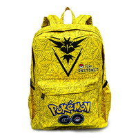 Kawaii Pokemon Leather Backpack Gift Boy Girl Students School Bags Big Capacity Games Pocket Monster Pikachu Print Backpacks