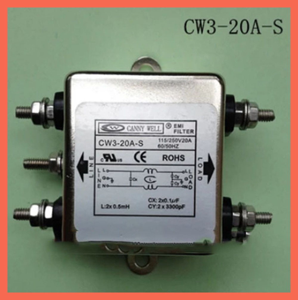 EMI Filter power supply filter Electronic Components.CW3-20A-S,110-250V 20A Electrical Equipment  Supplies Power Adapters